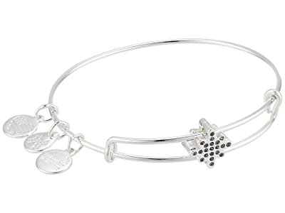 Alex and Ani Pave Star Symbol Bead Bangle Bracelet (Shiny Silver) Bracelet