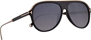 80c5b8ee15 Tom Ford FT0624 Nicholai-02 Sunglasses Shiny Black w Smoke Mirror Lens 57mm  01C