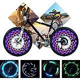 Yunjiadodo 2 Stück Fahrrad LED Speichenlicht-14LED wasserdichte Fahrradfelge Licht 30...