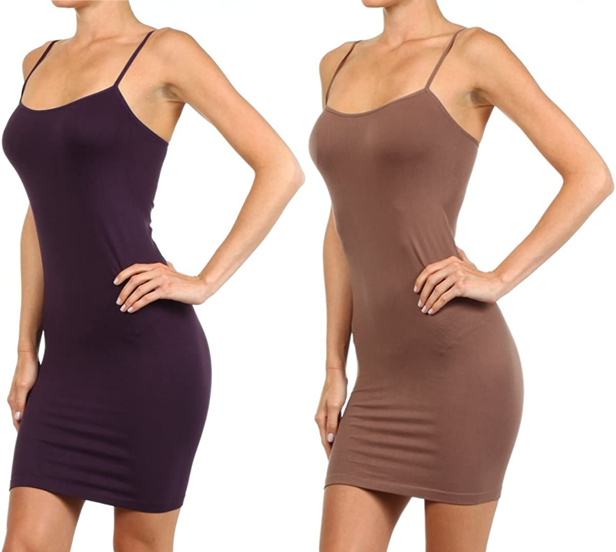 Ranking TOP20 Max 83% OFF ICONOFLASH 2 Pair Pack - Long Sli Women's Seamless Camisole