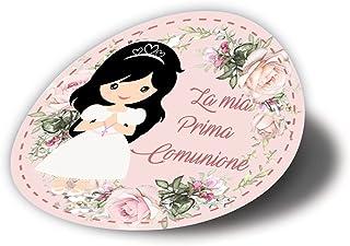 20 pezzi Adesivi tondi Prima Comunione Bimba, 40 millimetri, etichette cresima, thank you stickers, grazie, festa, tondo, ...