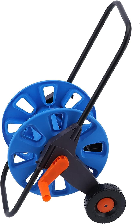 DAUERHAFT Hose Reel High Reservation Outlet sale feature Strength Cart Compact Stabl Water