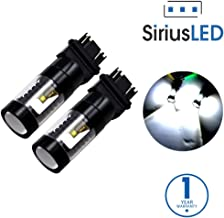 SiriusLED Super Bright 30W Dual Brightness Projector LED Bulbs for Turn Signals Daytime Running DRL Brake Tail Lights Parking Stop 3157 3157A 3057 4157 6000K Xenon White