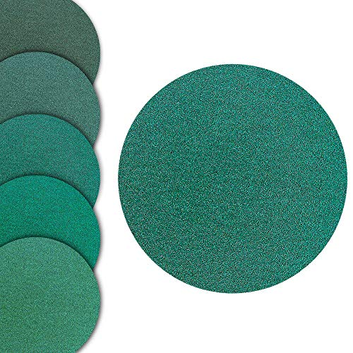 World Abrasive 5' No Hole Film Wet/Dry, Hook & Loop Variety Pack - 5 Discs Each of Grits 800, 1000, 1200, 1500, 2000