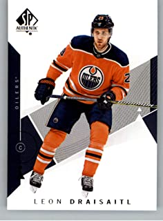 2018-19 SP Authentic Hockey #49 Leon Draisaitl Edmonton Oilers Official NHL Trading Card From Upper Deck (UD)