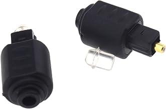 OTOTEC - Adaptador de audio óptico mini Toslink (conector hembra de 3,5 mm, conector hembra a Toslink, color negro)