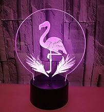 Flamingo SFALHX 3D LED Illusie Lamp, Baby's Illusie Lamp Kids Touch Tafelbureau LED Lamp 16 Kleur Veranderen, Kerstcadeaus...