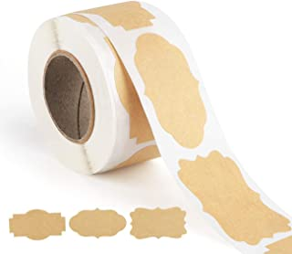 DELFINO Kraft Labels DIY Blank Kraft Stickers - for Jam Jars, Home Baking, Handmade Gifts, Cosmetic Tin/Pot Labelling & Cr...