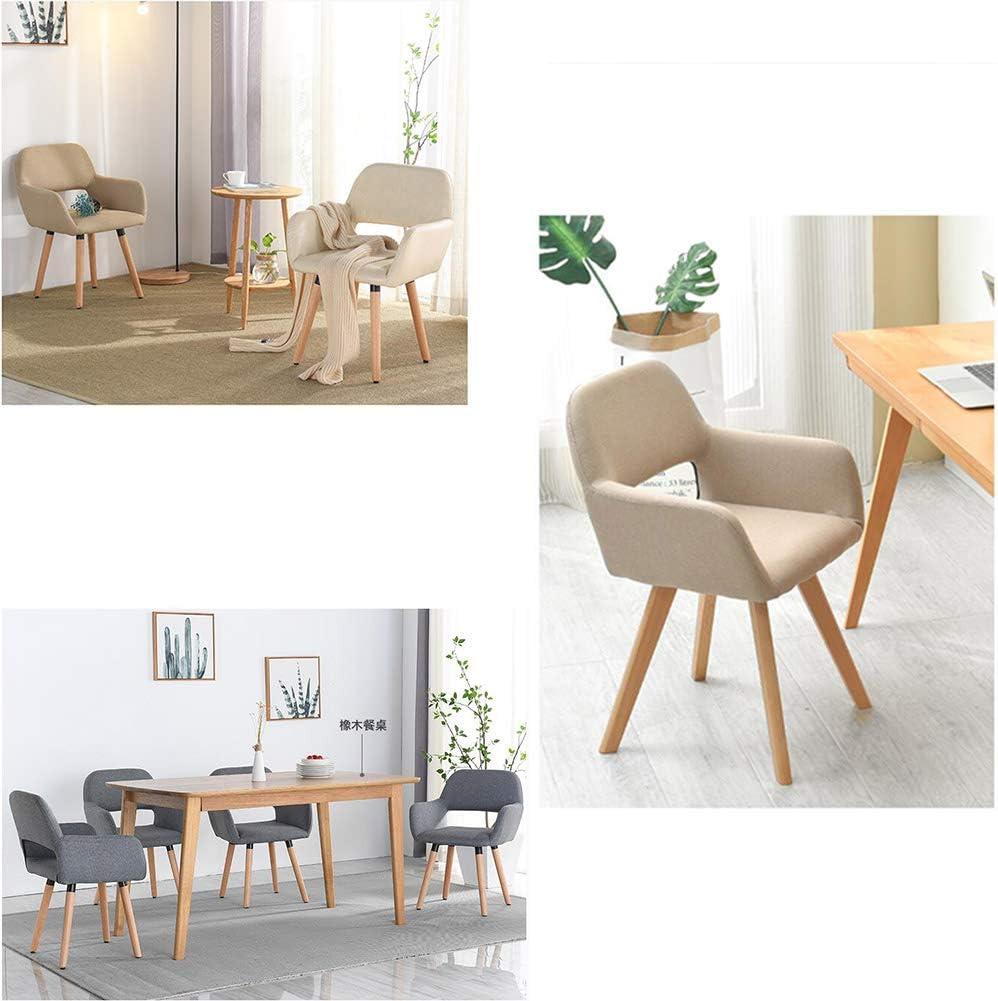 WFF Chaise de Bureau Chaise Simple Simplicité Moderne Design Creux avec accoudoirs Montage Facile dans Le ménage, en Bois de hêtre (Color : F) E