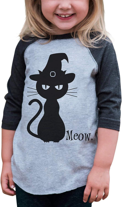 7 ate 9 Apparel Youth Black Cat Halloween Shirt