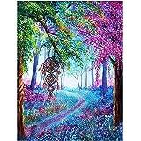 Diamond Painting Set Colorful Path En El Bosque DIY 5D Diamante Pintura Cristal Crystal Cross Bordados Artesanía Regalos para Adultos Y Niños 30 * 40cm