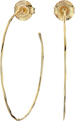 Medium Hammered Wire Hoop Earrings