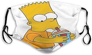 Tapa de boca reutilizable, Crazy Bart Sim-Pson Tapa de oreja ajustable Tapas antipolvo Tapas reutilizables lavables Cubierta de pasamontañas Cubierta de polvo