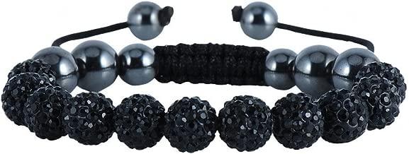black and silver shamballa bracelet