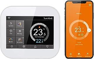 Termostato Intelligente WiFi CURCONSA per Caldaie a Gas, Termostato Programmabile con Touch Screen a Colori TFT da 3,5 Pol...