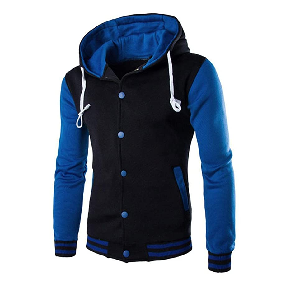 GOVOW Cotton Coats for Men Jacket Outwear Sweater Winter Slim Hoodie Warm Hooded Sweatshirt