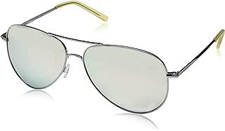 Polaroid Sunglasses Women's Pld6012n Polarized Aviator Sunglasses, RUTHENIUM, 62 mm