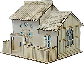 UKCOCO Diy Spaarpot Houten Huis Vormige Geld Bank Nachtlampje Coin Bank Opslaan Box Voor Kinderen Met Licht Coin Container...