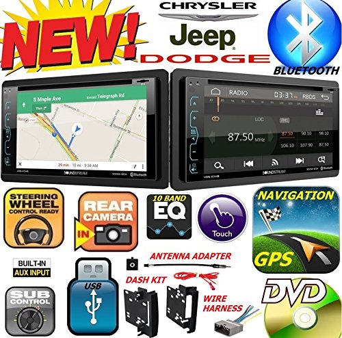 2007-2016 CHRYSLER JEEP DODGE Double Din DVD CD GPS Navigation Bluetooth Radio Stereo