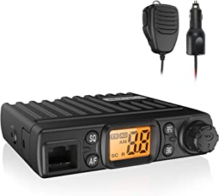 Radioddity CB-27 CB Radio Mobile 40-Channel, AM Instant Emergency Channel 9/19, Work with PA System, RF Gain with Removable Microphone