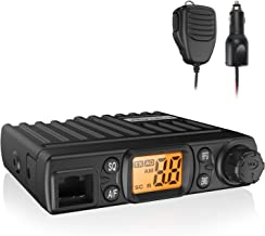 Radioddity CB-27 Mini CB Radio Mobile 40-Channel, AM Instant Emergency Channel 9/19, RF Gain with Removable Microphone