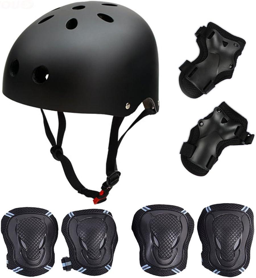 61dAHgsMsML. AC SL1000  - Skateboard/Skate Protektoren Set mit Helmet - Skate Helmet Knie Pads Elbow Pads mit Handgelenkschoner für Skate Skateboard Roller Skate BMX Bike...