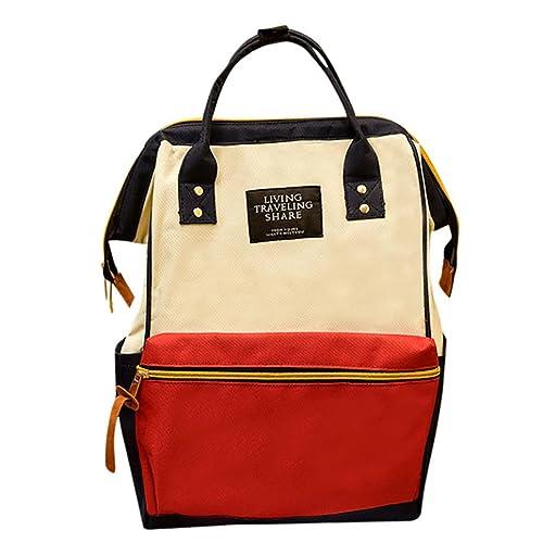 de292c6aa1 HARRYSTORE Womens Canvas Backpack School Rucksack - Girls College Shoulder  Satchel Travel Shoulder Bags