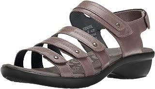 Propet Women's Aurora Wedge Sandal, Grey, 6.5 4E US