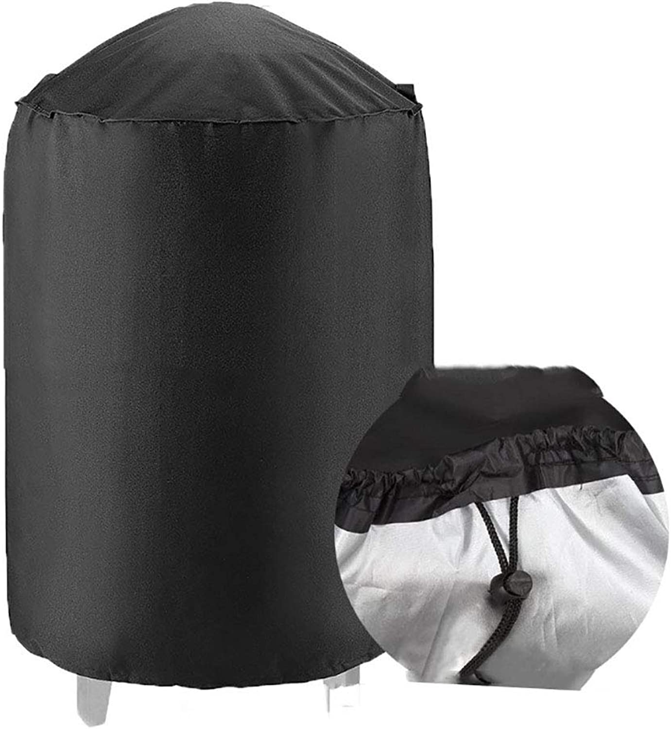 AY-cover Dust Guard Outdoor Furniture Round Dust Cover, Polyester, Garden Table and Chairs Barbecue Cover, Waterproof UV (color   Black, Size   24  28.5inch)
