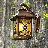 BJLWTQ Lámpara de luz de Pared, Antiguo de la Pared Edison Apliques de Estilo Industrial, llevada Impermeable Patio Lámpara Antigua Villa Luces de Puerta Ideal for la Cerca del Patio del jardín Luces