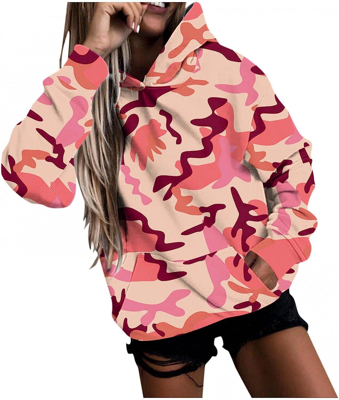 Masbird Fashion Hoodies for Women,Womens Camo Oversized Long Sleeve Sweatshirts Cool Anime Hoodies for Teen Girls