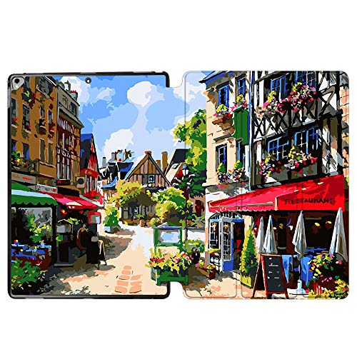 iPad Pro 12.9 Case 2017 A1670 / A1671, SDH Stand Smart Cover Apple iPad Pro 12.9 inch 2015 A1584 / A1652 Case Leather Folio Cover for iPad Pro 12.9'' with Auto Sleep/Wake,Painting City 4