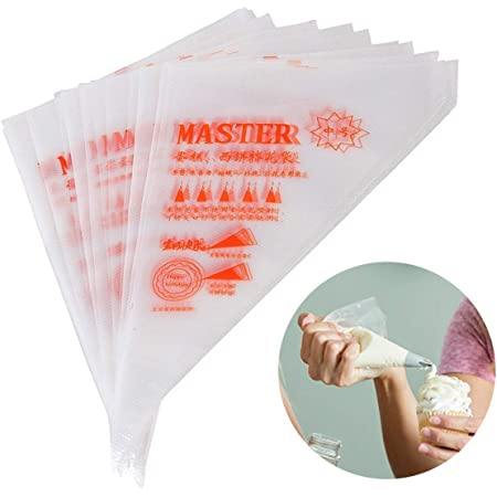 100PCS Disposable Icing Plastic Piping Bags Cake Pastry Decorating Cookies SHFUK