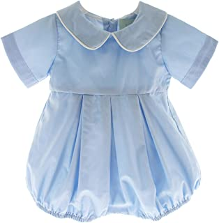 00a52b12378e Hiccups Childrens Boutique Boys Dressy Bubble Outfit Peter Pan Collar  Christening Romper