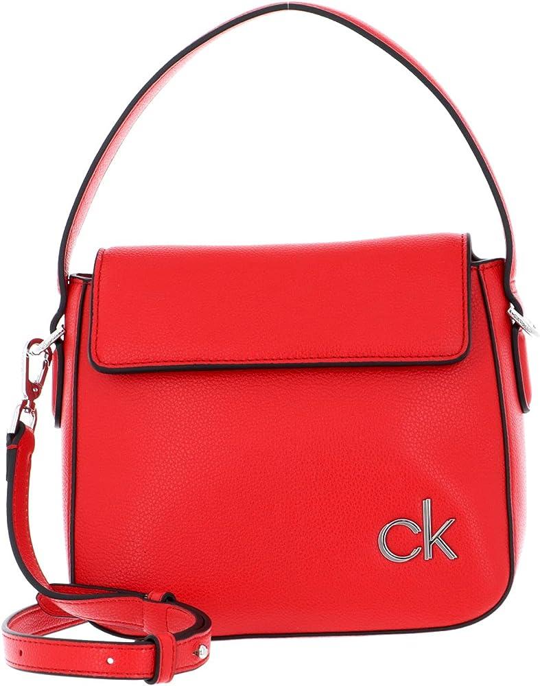 Calvin klein borsa da donna a mano/tracolla in pelle sintetica K60K608074-XA7
