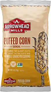 Arrowhead Mills Cereal, Puffed Corn, 6 Ounce (Pack of 12)