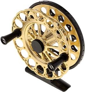 Perfeclan Lightweight Fly Fishing Reel Wheel Smooth Saltwater Freshwater, Purple/Gold