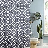 i@HOME Duschvorhang Anti-Schimmel Wasserabweisend Waschbar Anti-Bakteriell Duschvorhäng aus Polyester Badvorhang(Weißer Block,180x200cm)