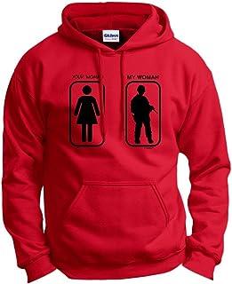 Husband Boyfriend Gift Your Woman My Woman Soldier Hoodie Sweatshirt