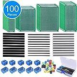 AUSTOR 100 Pcs PCB Board Kit Including 30 Pcs PCB Boards 30 Pcs 40 Pin 2.54mm Header Connector(Bonus: 10 Pcs...