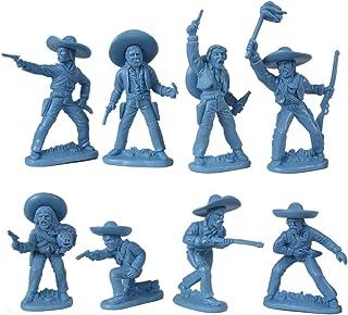 Weston Old West Mexican Banditos: Blue 1:30 Plastic Soldier Figures SW-B