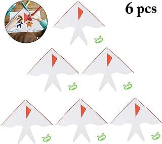 Joyibay DIY Kids Kite Kites Making Painting White Paper Blank Kites with Swivel Line for Boys & Girls Outdoor Park Beach Grassland Activities(6PCS)