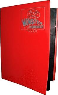 Monster Binder - 9 Pocket Trading Card Album - Matte Red (Anti-theft Pockets Hold 360+ Yugioh, Pokemon, Magic the Gatherin...