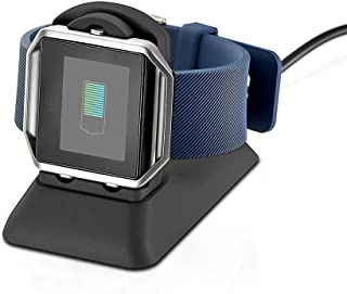 Kartice Charging Stand Compatible with Fitbit Blaze Charger Accessories,Fitbit Blaze Charging Dock Station Cradle Holder Charging Clip Bracket Cable for Fitbit Blaze SmartWatch