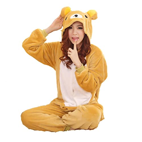 Winter Warm Flannel Onesie Pajamas Adult Unisex One Piece Cute Bear Pajama 4a8e1b6cf