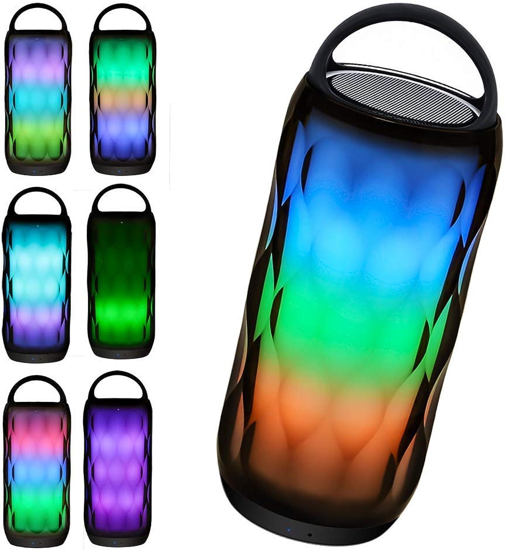 Luxuon Nachtlicht-Blautooth-Lautsprecher mit Touch Control-Nachttischlampe, tragbare drahtlose Blautooth-Lautsprecher, dimmbare RGB-Tischlampe, dimmbare Farbnachtlicht-Nachttischlampe