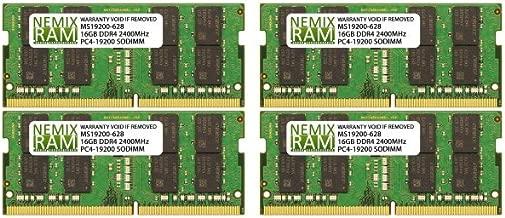 NEMIX RAM 64GB 4X16GB DDR4-2400 Memory for Apple iMac 2017 Retina 27