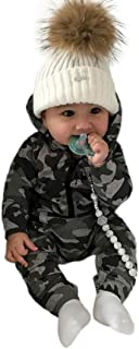 Sunnywill Baby Bekleidung Baby Jungen Mädchen Camouflage Print Kapuzen-Overall Overall Kleidung Outfits
