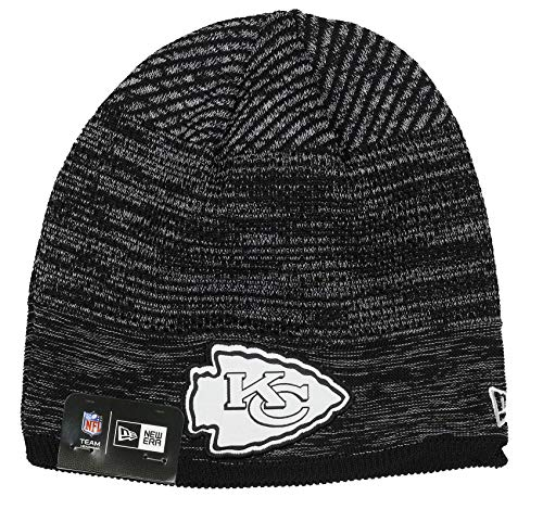 New Era Kansas City Chiefs Beanie - NFL 2020 On Field Tech Knit - Black/White - One-Size