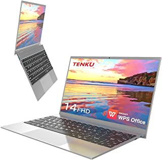 TENKU Slimbook14 薄型ノートパソコン14.1インチ WPS Office付き(Windows10 Home/Celeron J4115 4コア/4スレッド/8GB/256GB SSD/WEBカメラ/14.1インチ FHD IPS...